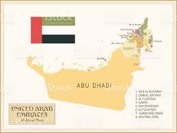 United Arab Emirates Map Vintage Map Of United Arab Emirates Stock Vector Art 470140520