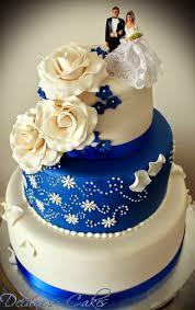 wedding cake royal blue delana s cakes royal blue and white wedding cake
