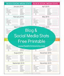 social media planner blog and social media stats free printable
