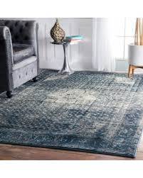 Blue Grey Area Rugs Amazing Deal On Maison Emerson Traditional Distressed
