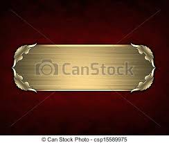 gold name plates design template texture with gold name plate with gold