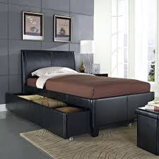 amazon com standard furniture new york upholstered trundle bed in