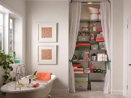 bathroom closet door ideas closet curtain designs and ideas hgtv