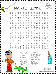 Free Word Search Worksheets Crossword Pirate Theme Pinterest Fabrics Pirate Theme And