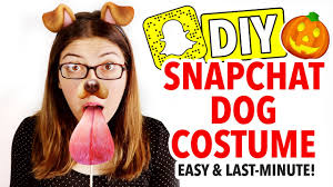 diy snapchat dog costume last minute halloween idea hgtv