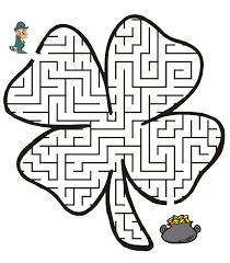maze clipart st patrick pencil and in color maze clipart st patrick