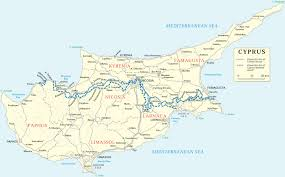 Europe Rivers Map by Map Cyprus Travel Europe