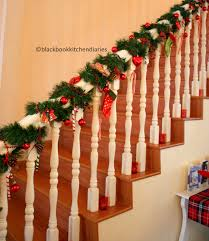 Christmas Banister Garland Ideas Christmas Time Banisters Holidays And Christmas Time