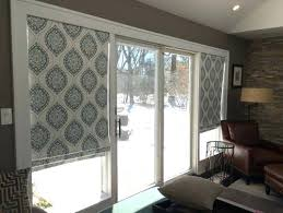 Roller Shades For Sliding Patio Doors Curtains On Sliding Glass Doors Dining Room Contemporary With