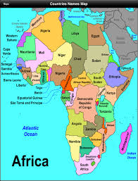 africa map with country names and capitals africa map with country names and capitals africa map