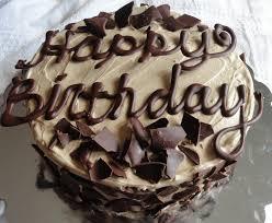 a happy birthday post dark chocolate cake with brown sugar