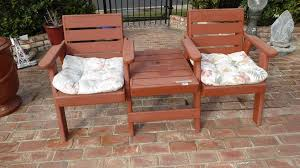 outdoor chair with table attached norcal online estate auctions estate liquidation sales lot 141