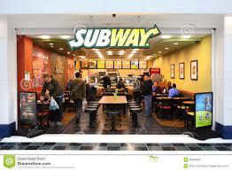 subway restaurant editorial photo image 35550926