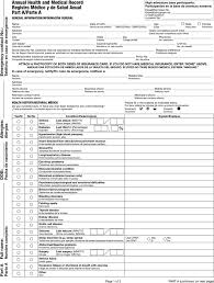 sample bsa medical form references u2013annual health and medical