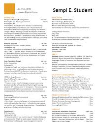 Sample Student Affairs Resume by Career Services At The University Of Pennsylvania
