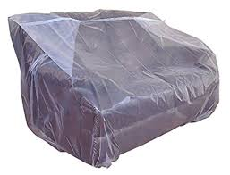 Plastic Loveseat Outdoor Amazon Com Furniture Cover Plastic Bag For Moving Protection And