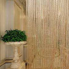 Glitter Window Curtains Tassel Glitter Curtains String Chagne For Living Room Window