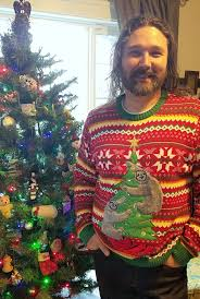 what we wore to an ugly sweater christmas party librarian for