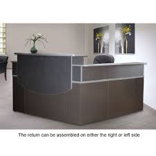 Grey Reception Desk Monthly Special Mayline Csii Reception Desk L Shaped With Double