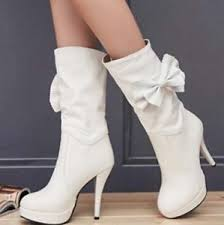 s boots plus size calf womens s fashion bowknot pull on high heels mid calf