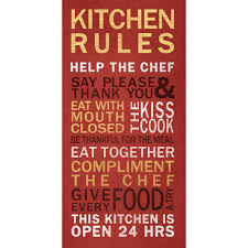 Red Kitchen Walls by Kitchen Rules Wall Art Walmart Com