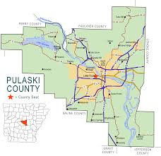 county map pulaski county map encyclopedia of arkansas