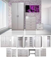 bedroom bedroom wardrobe sets imposing on in grey gloss furniture