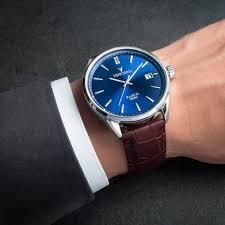 men u0027s dress watch blue and brown u2013 vincero collective