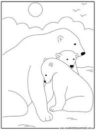 polar animals coloring printables standing animals