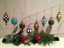 hand made hand painted solid wood christmas finial ornaments this