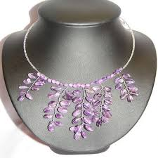 purple fashion jewelry necklace images Gorgeous purple amethyst pendant necklace thai fashion jewelry jpg