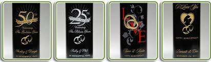 anniversary wine bottles personalized wine bottles personalwinebottles