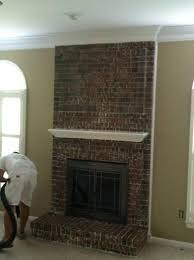 Remove Brick Fireplace by Stripping Paint From An Interior Brick Fireplace Paint Talk