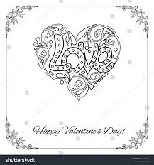 set elements happy valentines day card stock vector 360171887