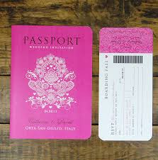 Wedding Invitation Model Cards Passport To Love Booklet Travel Wedding Invitation By Ditsy Chic