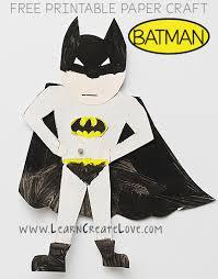 printable batman craft