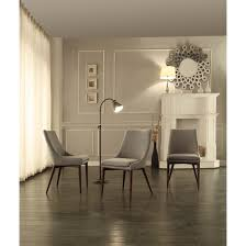 furniture parson chairs design with standing lamp and brown wall