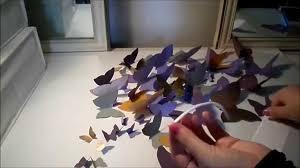 deco chambre papillon diy déco chambre 4 papillons 3d