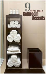Towel Storage For Small Bathrooms Best Free Standing Accent Bathroom Towel Storage Shelving Ideas