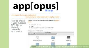 android market app how to publish an app inventor application to the android market