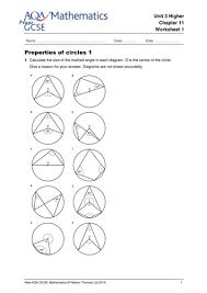 properties of circles worksheet 28 templates circles