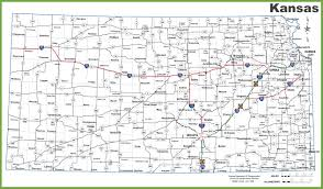 United States Map With Interstates by Kansas Road Map