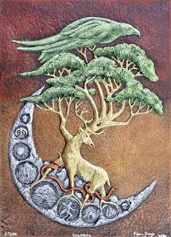 yggdrasil cast paper norse celtic norse tree of