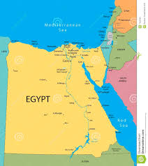 Egypt World Map by Egypt Vector Map Stock Photo Image 7452540