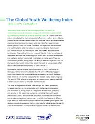 2014 global youth wellbeing index international youth foundation