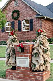 burlap christmas tree diy burlap christmas tree tutorial dimples and tangles