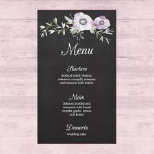 wedding menu design vector free download