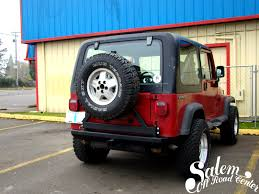 homemade jeep rear bumper on this jeep wrangler yj we installed a smittybilt src classic