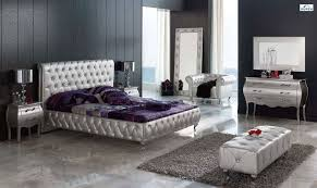 furniture 5 piece wooden bedroom furniture with gloss finish