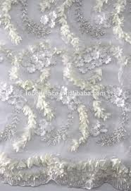 3d lace fabric white lace fabric with 3d flowers bridal lace